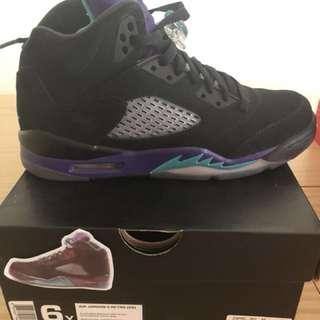 Jordan AJ5 Black Grapes