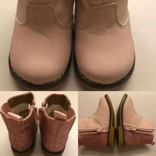 H&M light pink girl boots