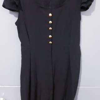 Black elegant dress.fit to small and medium frames