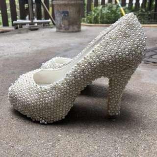 結婚用品-珍珠鞋