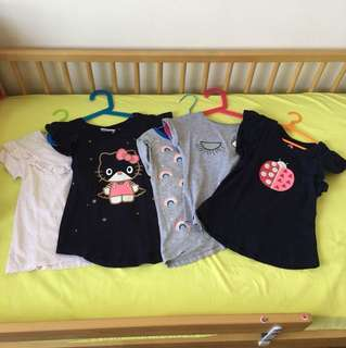 Girl T shirts x 5 pcs