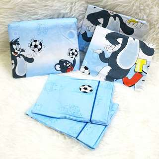 Gutnite Sprei Queen 160x200. TOM & JERRY - BLUE. Cartoon