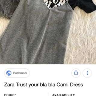 Zara Dress 2 Pieces tank dress Excellent condition