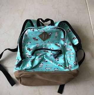 New Green Cat Mini Backpack for Toddler