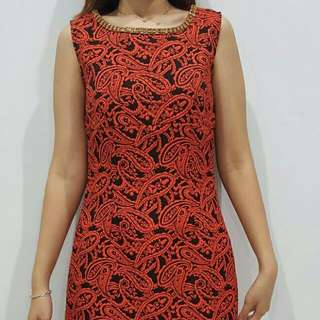 Mini Party Dress (Red-Black)