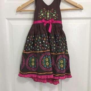 Brown Halter Dress - for 3-4 yo