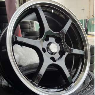 "Advan 17"" Black with Full Polished Lip"