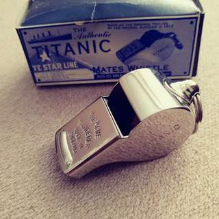 'Titanic' Whistle, Solid.  Made in U.K.