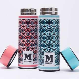 旅行/運動用品 - 全新有盒 ELLE M Missoni 保溫瓶 350ml 粉藍 / 粉紅 $50/個