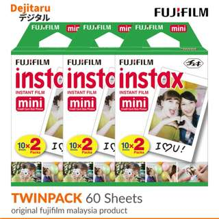Fujifilm Instax Mini Film Twinpack X 3 (60 Sheets)
