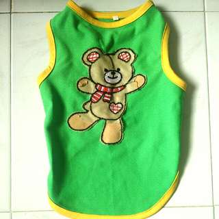 Cute Bear Tank Top For Small Breed Dogs