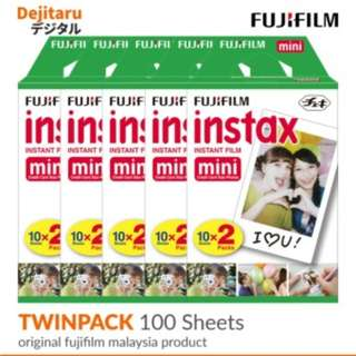 Fujifilm Instax Mini Film Twinpack X 5 (100 Sheets)