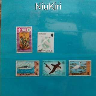 1 lot of Niue and Kiribati stamps