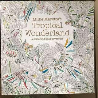 Tropical Wonderland Adult Coloring Book
