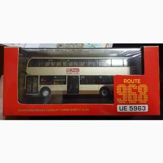 九巴1:76 enviro 12.8米巴士模型 RT:968