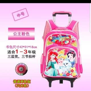 Disney Princess School Trolley Bag with Light-up Wheels