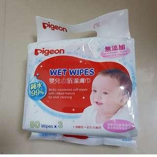 Pigeon 純水99%濕紙巾 80片x3