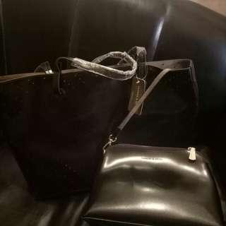 Original Charles ans keith 2 in 1 Bag (Black)