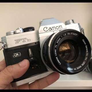 Canon FTb QL FL 50mm 1.8 silver