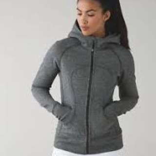 Grey lulu lemon scuba zip up