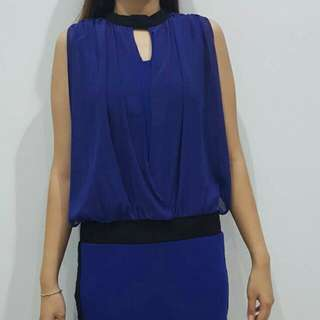 Casual dress (Blue - Black)