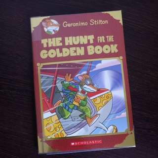 The Hunt for the Golden Book - Geronimo Stilton (Pre-loved)