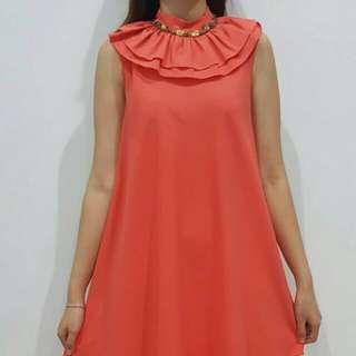 Pretty Frill dress (peach)