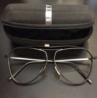 Aviator Frame Black Korea Unisex