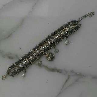 Grey charm bracelet