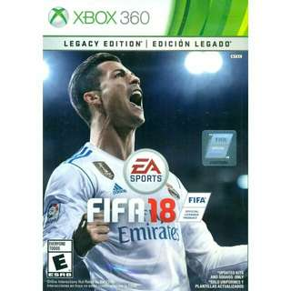 FIFA18 (Legacy Edition) for XBOX 360