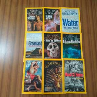 National Geographic Magazines 2010