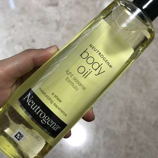 Neutrogena body oil (Available) and pore refining exfoliating cleanser (SOLD)