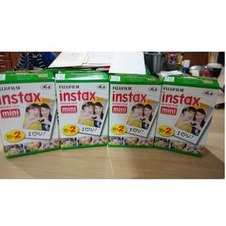 Fujifilm Instax Mini Plain (Twinpack) film (Expired)