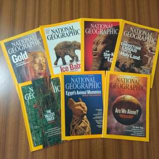 National Geographic Magazines 2009