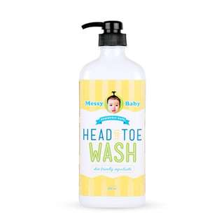 Messy Baby Head to Toe Wash