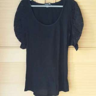 FOREVER 21 Black lace shirt