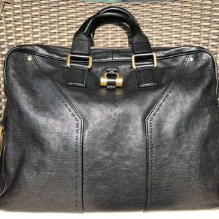 YSL Muse small model briefcase in black leather