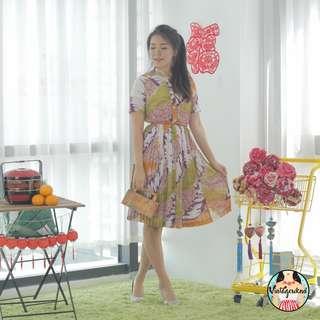 🍿 Vintage Midi Dress VD1155