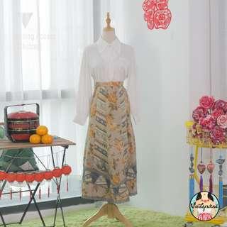 🍿 Vintage Midi Skirt VS1293