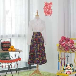 🍿 Vintage Midi Skirt VS1294