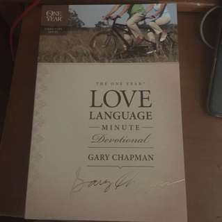 Book: love language by Gary Chapman