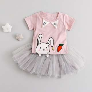 Girl 2 Pcs Set (Top and Tutu Dress)