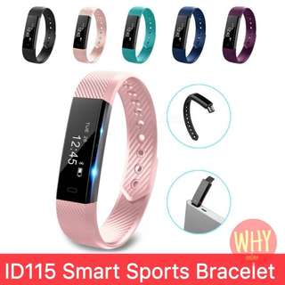 ID115 Smart Bracelet Fitness Tracker Step Counter Monitor Vibration Wristband