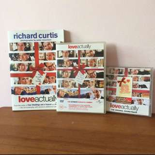 Love Actually Screenplay Book + DVD + CD Bundle Set