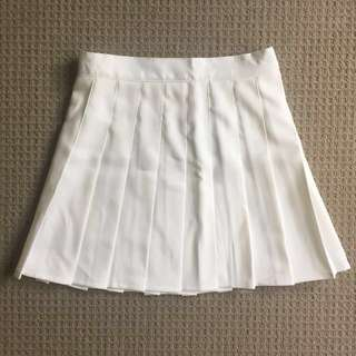 BNWT white tennis skirt