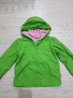GAP亮綠色防雨薄/ 防風連帽外套-110號
