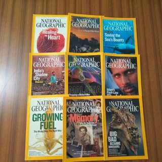 National Geographic Magazines 2007
