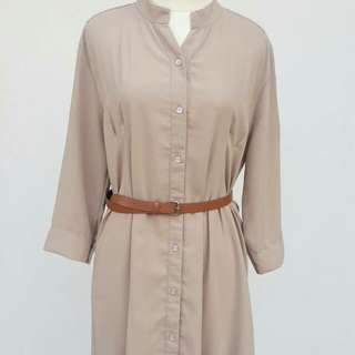 Khaki brown dress