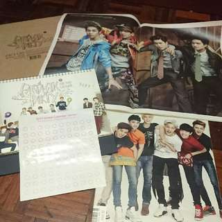 EXO OLD CALENDAR AND MAGAZINES