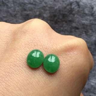 天然A貨綠色戒面裸石